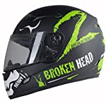 Broken Head Adrenalin Therapy II matt (M 57-58 cm) Motorradhelm - Helm grün - Integralhelm