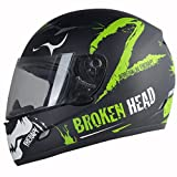 Broken Head Adrenalin Therapy II matt (S 55-56 cm) Motorradhelm - Helm grün - Integralhelm