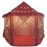 Bambini giochi di castello principessa interna tende, Shayson all'aperto portatile grande Playhouse con 40 piccole luci di stelle, perfetto regalo giochi al coperto per bambini bambino