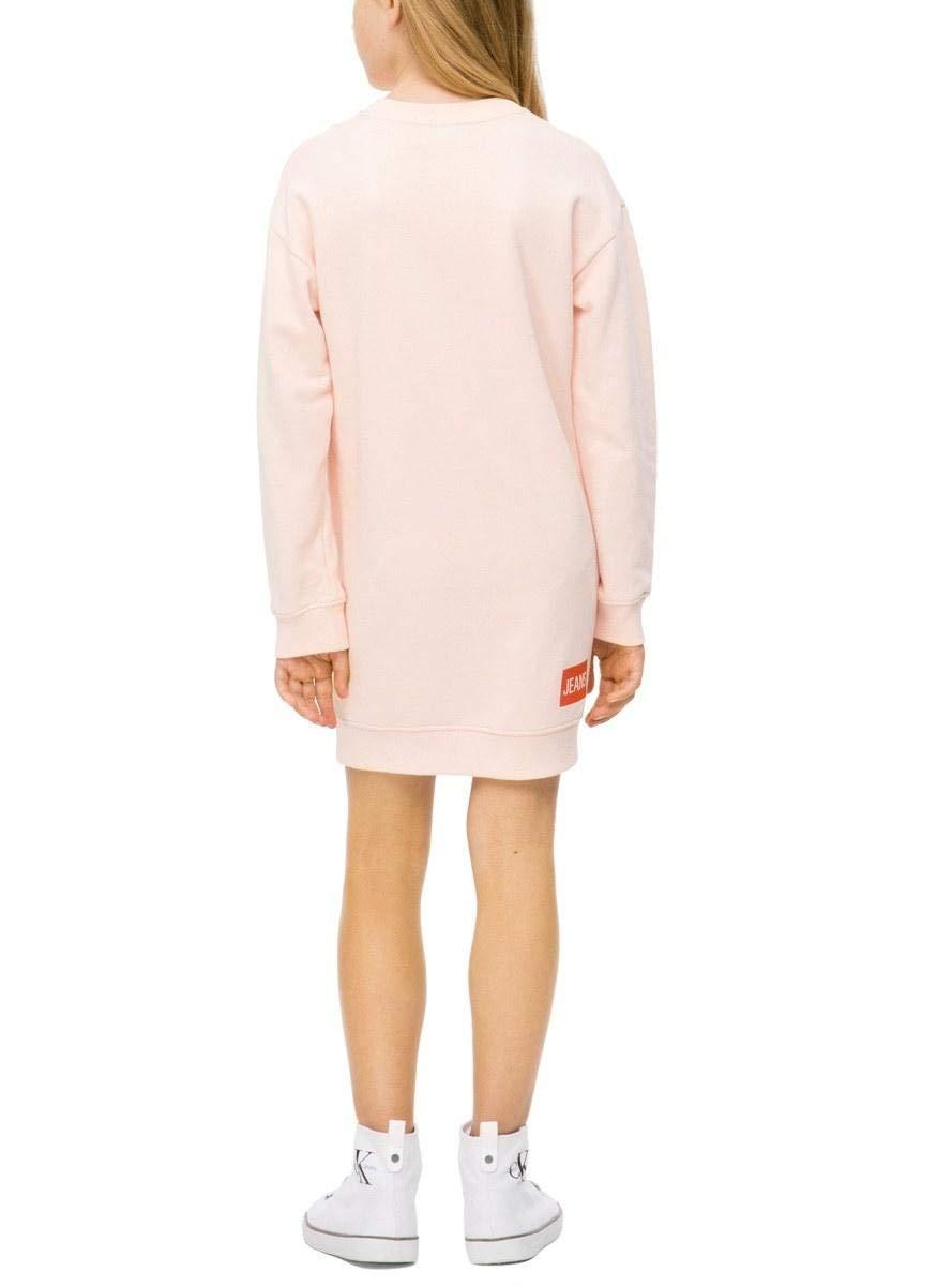 Calvin Klein Vestido Logo Rosa para Niã±a