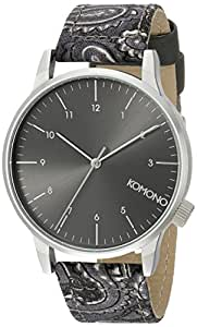 Komono - KOM-W2153 - Montre Homme - Quartz - Analogique - Bracelet Polyuréthane noir