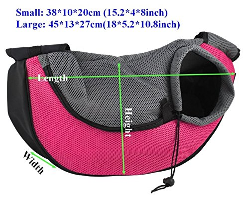 BENWEI Classics High-quality Breathable Dog Front Carrying Bags Mesh Comfortable Travel Tote Shoulder Bag For Puppy Cat… 2