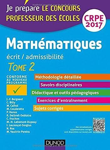 Method Mathematiques - Mathématiques - Professeur des écoles - Ecrit,