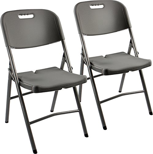 Vanage 2 x silla de jardín, plegado, gris