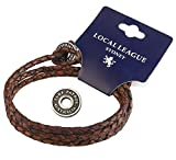 Local League SURF PATROL AUSTRALIA Mens Leather Bracelet - Fully Adjustable - Man Multilayer Wristband Braided Wrap Cord Rope Surfer