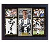 SGH SERVICES Poster Cristiano Ronaldo Juventus, gerahmt, Fotoposter mit Rahmen, MDF-Rahmen