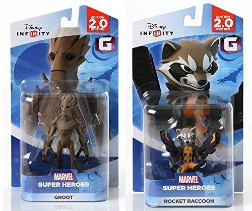 Disney INFINITY Marvel Super Heros (2.0 Edition) - Groot and Rocket Raccoon Figures from Guardians of the Galaxy Bundle by Disney Infinity (Infinity Ps3-bundle)