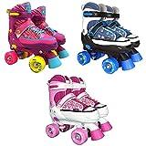 Best Sporting Rollschuhe für Kinder und Jugendliche, Größe verstellbar, ABEC 7 Carbon, pink, blau-weiß oder pink-weiß