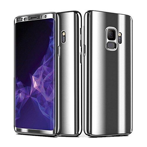 Samsung Galaxy S9 Hülle, 3 in 1 Ultra Dünner PC Harte Case 360 Grad Ganzkörper Schützend Anti-Kratzer Anti-dropping Schutzhülle für Galaxy S9 Plus (Samsung Galaxy S9, Silber)