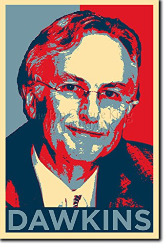 Richard Dawkins Art Print 'Hope' - 12x8 High Quality Photographic Poster - Unique Art Gift - Atheism, Science, Atheist, Biology