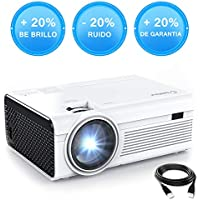 Crosstour Mini Proyector Portátil LED Soporte Full HD 1080P Vídeo Proyector Lampara con 55,000 Horas de Uso Compatible con HDMI/USB/VGA/AV/Android/iPhone