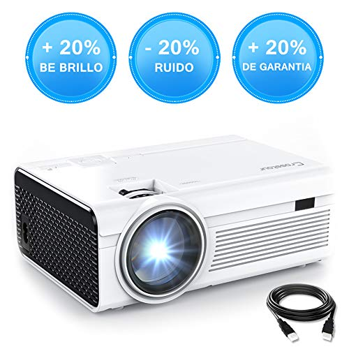 Crosstour Mini Proyector Portátil HD LED 1080P Vídeo Proyector Lampara con 55.000...