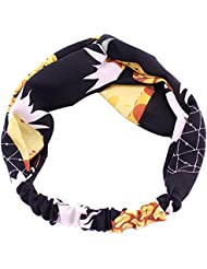 TININNA Serre-tête Mode Bandeau Accessoires Stretch Bande de Cheveux Motif Ananas Turban Elastique Headband Hairband Headwear pour Femme Filles