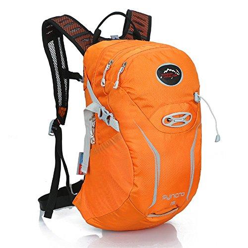 West Biken 15L Laufen Wandern Klettern Tasche Radfahren Reiten Tasche Outdoor-Back Pack für Männer Frauen Road Bikes Staubbeutel Orange - orange