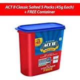 ACT II Instant Popcorn Classic Salted Pack, 225g (Buy 5 Get A Container Free)