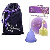 Me Luna Coupe menstruelle Sport, bille, bleu/violet, taille Shorty S