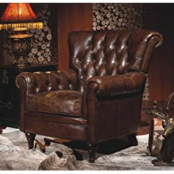 Phoenix Company 449 Chesterfield - Sillón de cuero, diseño vintage