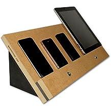 VanDock 47 Multi Ladestation (Die Dockingstation für Handys & Tablets, iPhone, iPad, Galaxy, Fire-Tablet und mehr) VD47 - (Braun)