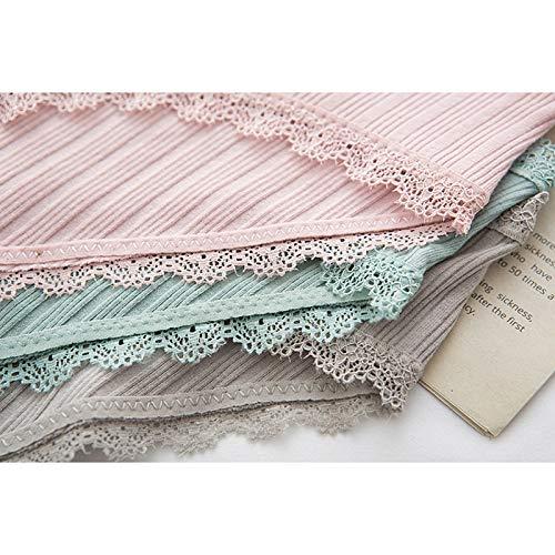Haodou String mit Spitze Damen Unterhose Baumwolle Unterwäsche Reizvolle Wäsche durchsichtige Tanga G-Schnur Schlüpfer Damenwäsche Dessous Länge 21cm (Rosa A-M) - 9