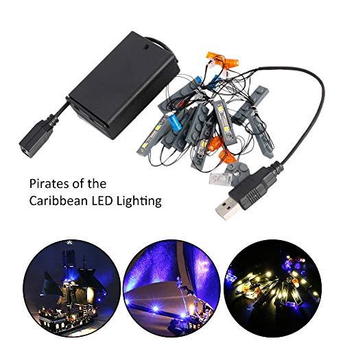 Forwei kit di illuminazione a led, set di luci a led per lego pirati dei caraibi black pearl 4184 building blocks