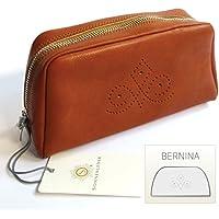 """SONNENLEDER - calidad bolsa de cosméticos """"BERNINA"""" (con la selección) Color: Natural * cuero auténtico *"""