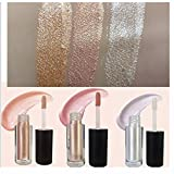 3set di colori 3.5g durevole trucco ombretto liquido evidenziatore Liquid Glow Brightener shimmer-silver, rose, colore dorato immagine