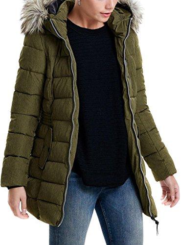 ONLY Damen Winterjacke Stepp-Jacke Mantel onlDANA NYLON COAT OTW schwarz (M, khaki-grün (Beech))