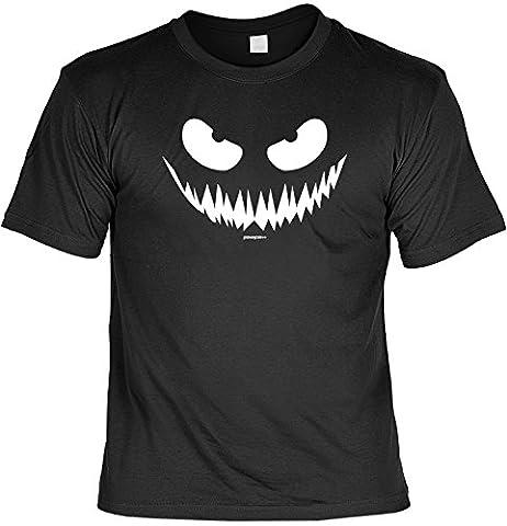 Halloween Grusel T-Shirt mit Kürbisgesicht - Originelles Halloween Kostüm