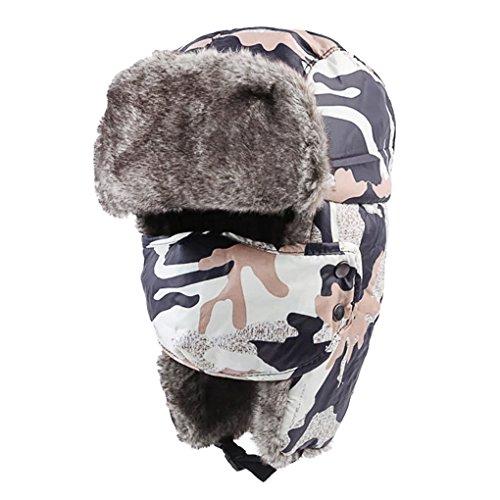 Unisex Winter Warm Trooper Hat Ear Flap Hat Russian Style Thicken