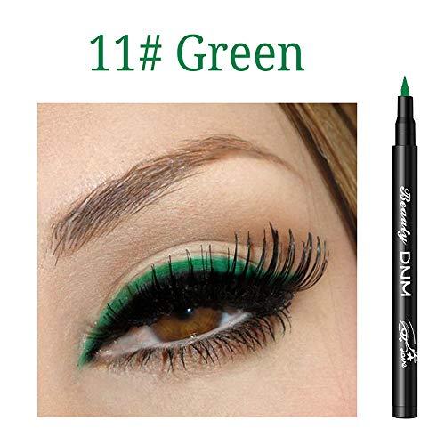Cooljun Eyeliner liquid paillette Waterproof Maquillage 12 Couleur,Brillant à paupières Smoky Eyeliner Liquide à Paillette Crayon Stylo Fard à Paupières (K)