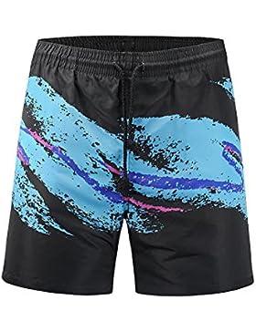 Deylaying Bañador de Natación de Hombre Bóxers con Cordón Bolsillos Deportivos Playa Secado Rápido Surf Shorts...