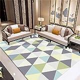 CHAI Wohnzimmer Dekorative Teppich Bodenmatte Europäischen Einfachen Stil 3D Druck Rechteck Teppich Kinder Teppich Geometrische Muster Schlafzimmer Rutschfeste Teppich Teppich Teppiche
