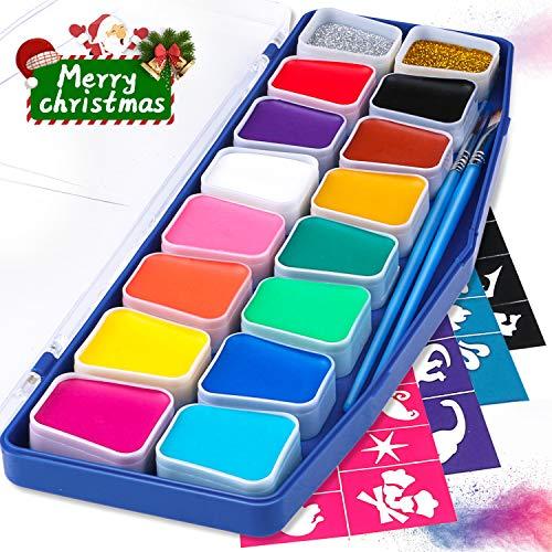 Kinderschminke, Joylink Kinderschminke Set Face Paint -16 Farben Schminkpalette