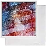 3Drose Patriotic Lady Liberty Digital Collage