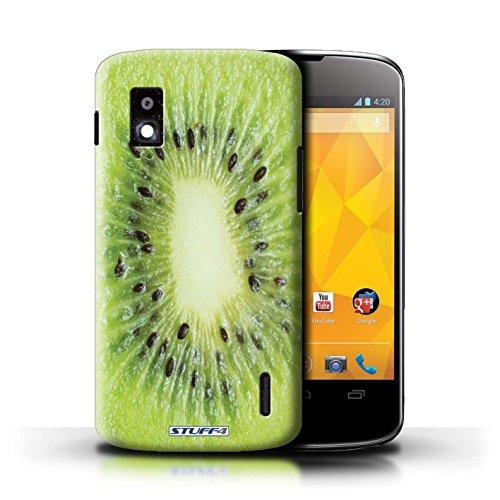Kobalt® Imprimé Etui / Coque pour LG Nexus 4/E960 / Orange / Peau conception / Série Fruits Kiwi