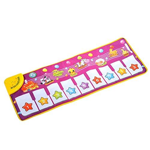tappeto palestra per il bambino, FEITONG musicale tocco riprodurre musica canto regalo giocattolo mat