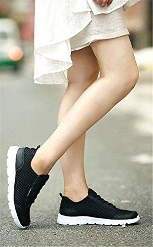 Wealsex Chaussures de Sport Course Fitness Compétition Entraînement En Mesh Respirante Légère Homme Femme Mixte Adulte Noir