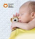 Copertina di Sicurezza per Bimbi by Baby Bibi. Copertina di Sicurezza Felpata Con Delizioso Orsacchiotto. Copertina Giallo Chiaro con Orsacchiotto Marrone, Misura 31,75 cm x 31,75 cm