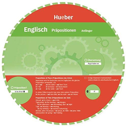 Wheels. Englisch Präpositionen. Anfänger und Fortgeschrittene. Sprachdrehscheibe (Wheel Englisch)