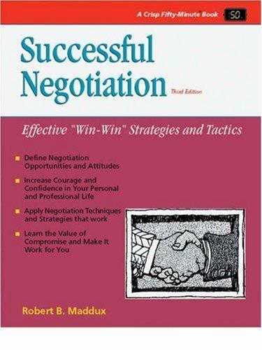 Successful Negotiation (50-Minute Series) by Robert B. Maddux (1995-08-02)