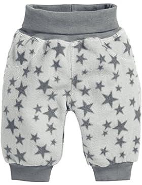 Schnizler Unisex Baby Hose Fleecehose mit Strickbund Sterne