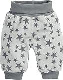 Schnizler Unisex Baby Fleecehose mit Strickbund Sterne, Oeko-Tex Standard 100 Hose,, per pack Grau (grau 33), 62 (Herstellergröße: 62)