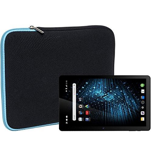 Slabo Tablet Tasche Schutzhülle für Dragon Touch X10 Hülle Etui Case Phablet aus Neopren – TÜRKIS/SCHWARZ