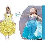 Vestido reversible de la Bella y Sirenita. 2 vestidos en 1. Talla S/M (4-6 años). Disfraces Niña Carnaval
