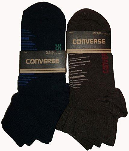 4 paia di metà brevi calzini Converse Colore marrone Abbigliamento taglie tipo adulto 43-46 di prodotto audience CALZINO CITY