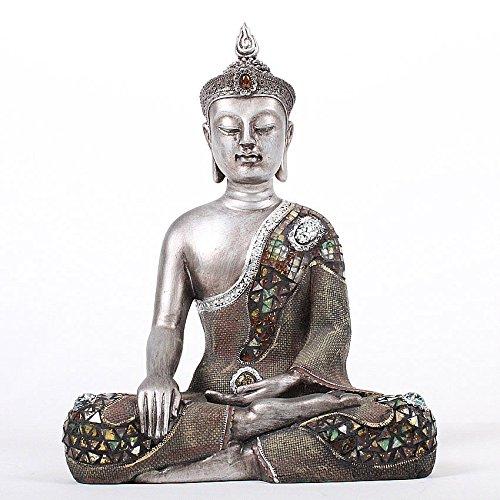 Deko Asien Garten BUDDHA Figur Statue Skulptur FENG SHUI 40 cm Garten NEU