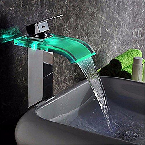 Newborn faucet rubinetti di acqua calda e acqua fredda grande qualità led di potenza idrostatica senza la batteria cade bicchiere pieno di rame e calda superficie fredda miscelatore vasca