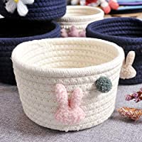 Cestbon A collapsible storage basket made of cotton rope Small, baby storage box storage box children