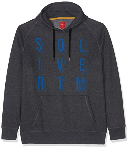 s.Oliver Big Size Herren Sweatshirt Grau (Elephant Grey Melange 95W0)