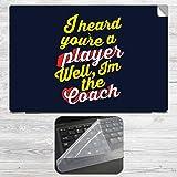 I am Your Coach Laptop Skin + Silicon La...